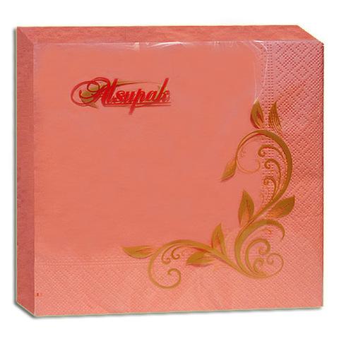 Салфетки 33х33 см персиковые двухслойные 20 шт.