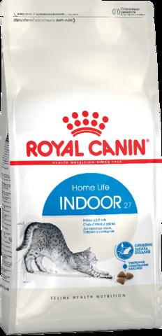 Royal Canin Indoor 27 для взрослых кошек живущих в помещении