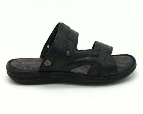 Черные кожаные сандалии на гибкой подошве