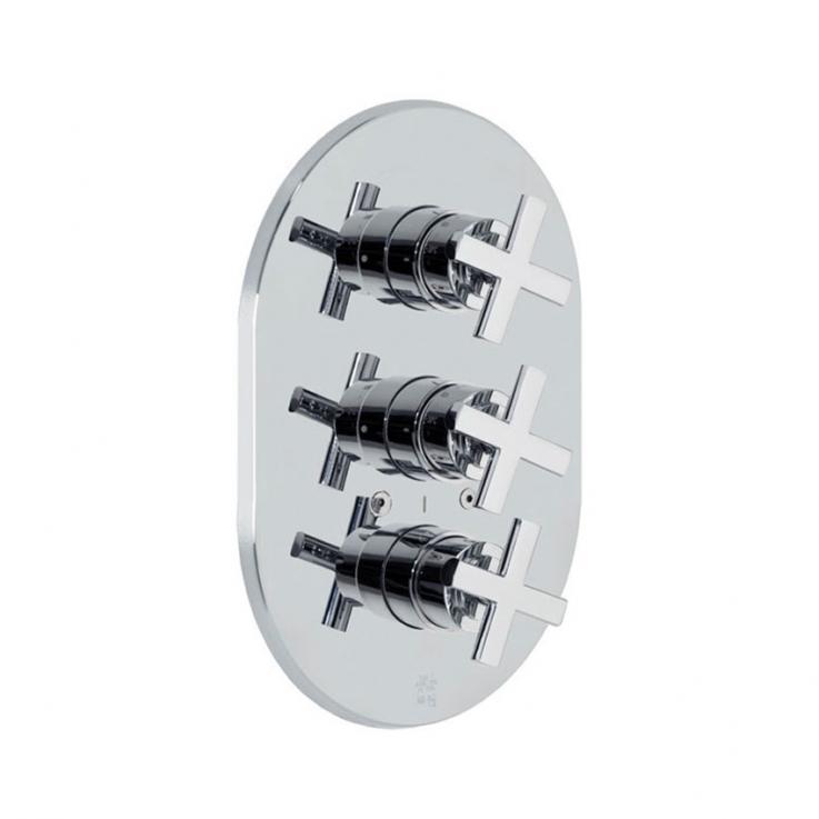 Встраиваемый термостатический смеситель для душа RS-CROSS 6227S на 3 выхода
