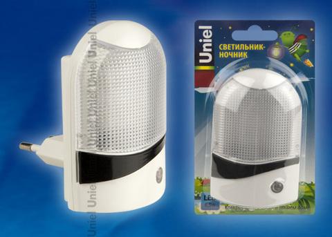 DTL-310-Селена/White/4LED/0,5W Светильник-ночник. С фотосенсором (день/ночь). Блистер