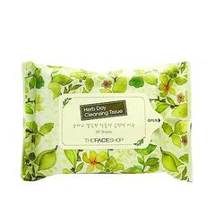 Средство для снятия макияжа THE FACE SHOP Herb Day Cleansing Tissue 20sheets