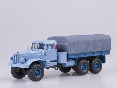 KRAZ-255B1 board with awning 1969 blue 1:43 Nash Avtoprom