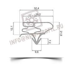 Уплотнитель 98*50,5 см для холодильника LG GR-FM (холодильная камера) Профиль 003