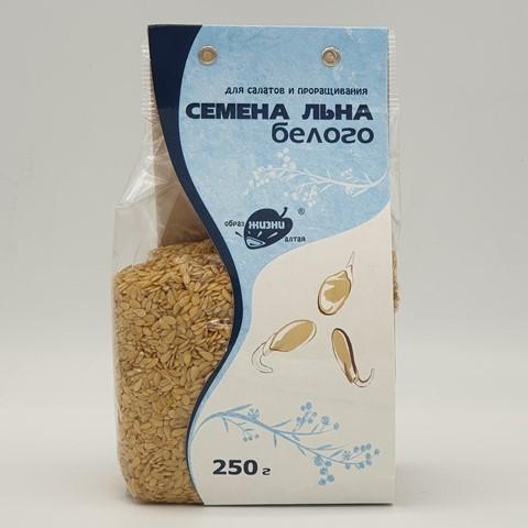 Семена Льна белого для салатов и проращивания ОБРАЗ ЖИЗНИ