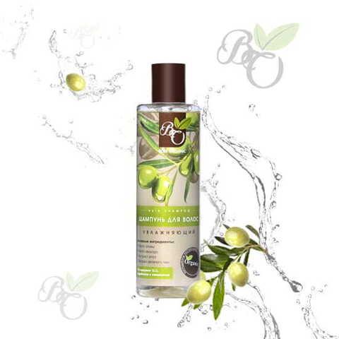 Органический шампунь для волос «Увлажняющий»  для сухих и ломких волос, Bliss organic 250 мл