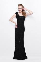 81400 длинное черное платье