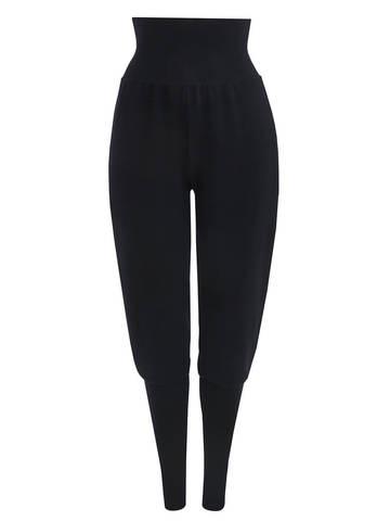 Женские брюки черного цвета из шерсти - фото 1