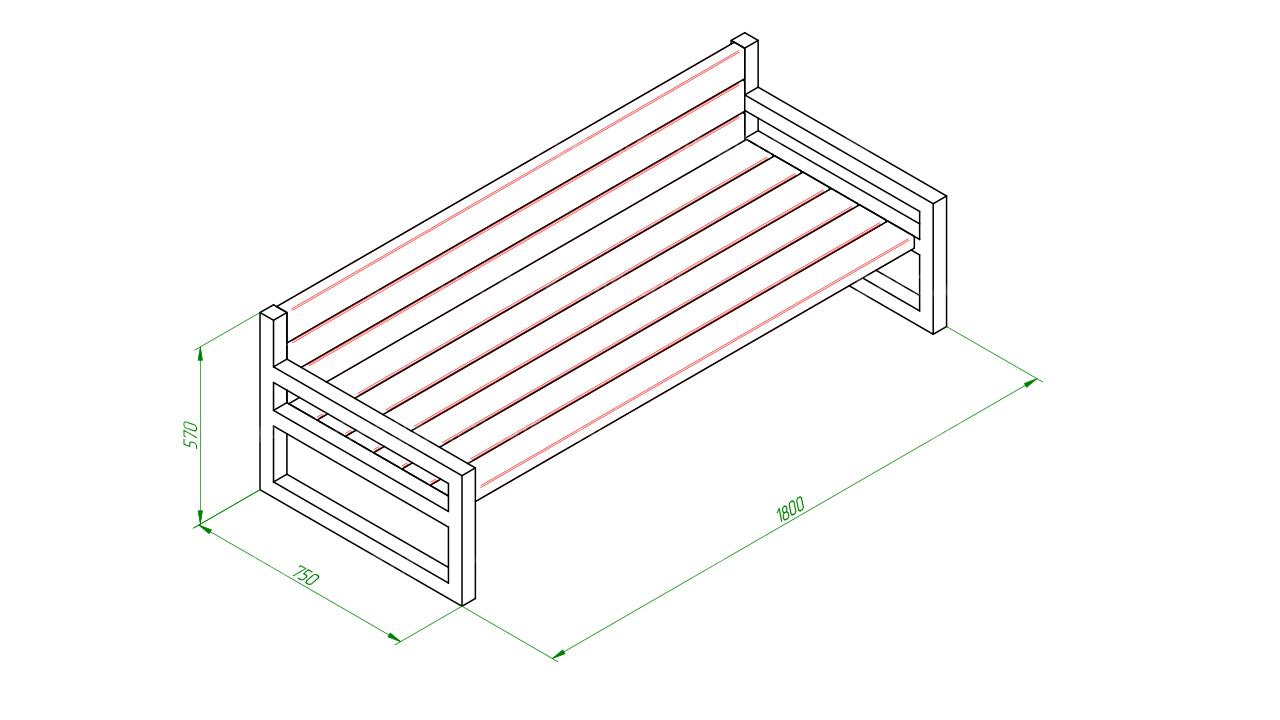 Скамейка диван SCAM0067