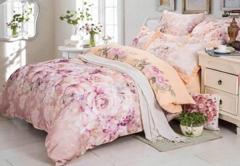2-Спальное постельное белье сатин с вышивкой Джисел