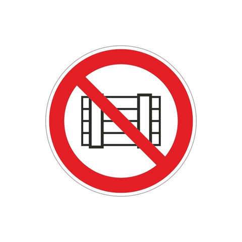 P12 Запрещается загромождать проходы и(или) складировать (плёнка ПВХ, 200х200)