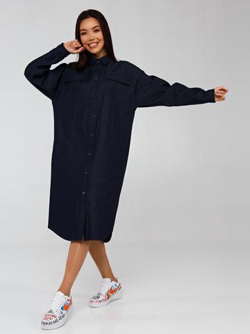Джинсовое платье-рубашка YOS