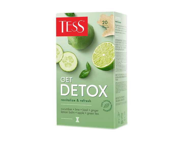 купить Чайный напиток в пакетиках Tess Get Detox 20 пак/уп