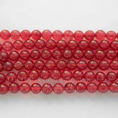 Бусина Жадеит (тониров), шарик с огранкой,