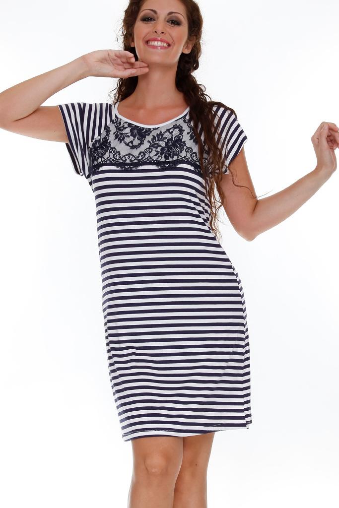 Домашнее платье в морском стиле DolceVita