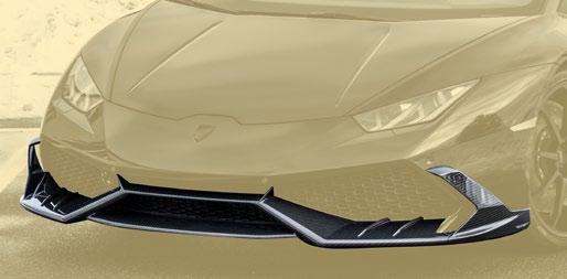 Карбоновая передняя дополнительная губа Mansory Style для Lamborghini Huracan