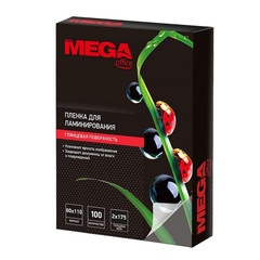 Пленка для ламинирования Promega office 80x110 мм 175 мкм глянцевая (100 штук в упаковке)