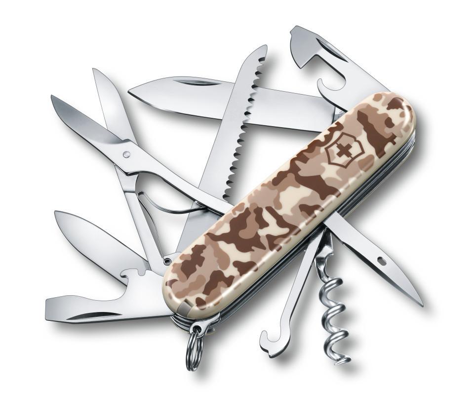 Складной нож Victorinox Huntsman Desert Camouflage (1.3713.941) 91 мм., 15 функций, песочный камуфляж - Wenger-Victorinox.Ru