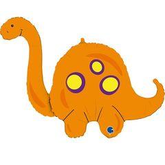Г Фигура, Динозавр Оранжевый Бронтозавр, 44