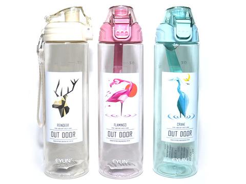 Бутылка для воды. Материал: пластик, силикон. Объём 750 ml. YY-616