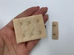 Застежка с крючками бежевая 2 ряда (цв. 126)