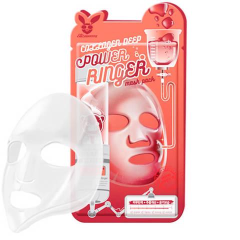 Тканевая маска для лица с антивозрастным эффектом Elizavecca Collagen Deep Power Ringer Mask