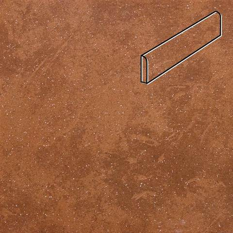Stroeher - Keraplatte Roccia 841 rosso 294х73х8 артикул 8108 - Клинкерный плинтус