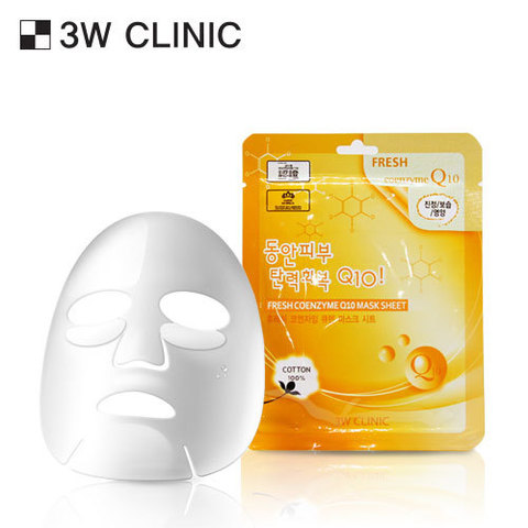 3W Clinic Fresh Coenzyme Q10 Mask Sheet  маска с коэнзимом Q10