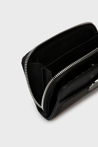 Женский черный кожаный кошелек ABELIA Diesel