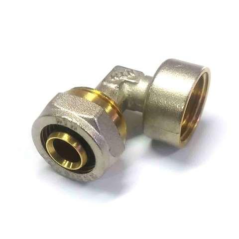 Угол обжимной для металлопластиковых труб 16*1/2 внутренняя резьба Valve