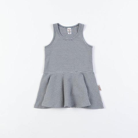 Sleeveless dress - Striped