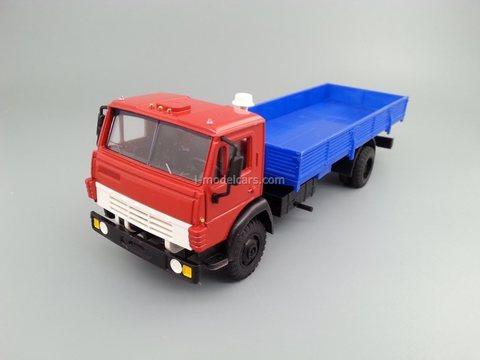 KAMAZ-4325 flatbed truck red-blue Elecon 1:43