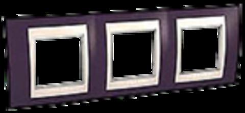 Рамка на 3 поста. Цвет Гранат/Бежевый. Schneider electric Unica Хамелеон. MGU6.006.572