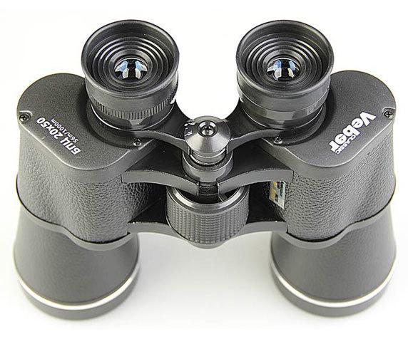 Окуляры с резиновыми наглазникам Veber Classic 20x50