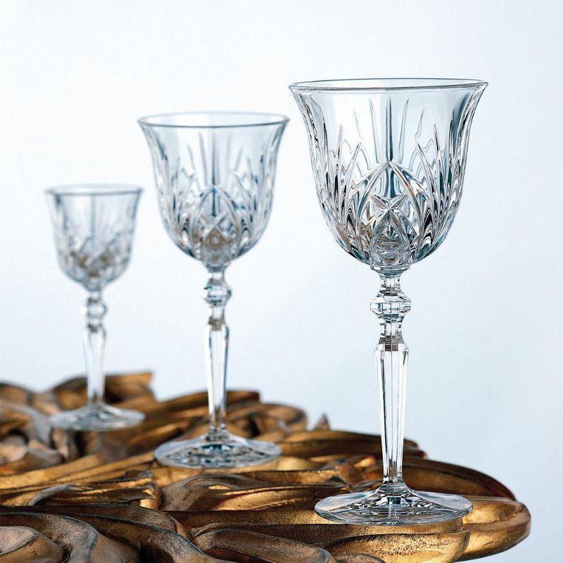 Набор фужеров из хрусталя 18 предметов: фужеры для шампанского 6 шт,для красного 6 шт и белого вина 6 шт, Palais Nachtmann