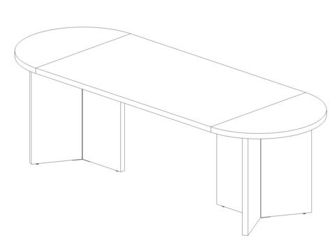 Стол овальный 2500 мм (Lava/Terra)