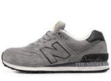 Кроссовки Мужские New Balance 574 Premium Suede Grey Black
