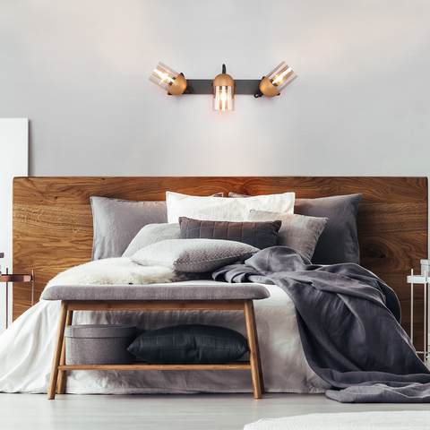 Настенный светильник с поворотными плафонами 20122/3 черный/золото