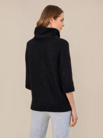 Женский свитер черного цвета из ангоры - фото 4