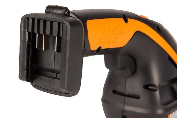 Ножницы для стрижки травы и кустарников в комплекте с тяпкой WORX WG801E.5, 2Ач x1, ЗУ 2А, коробка