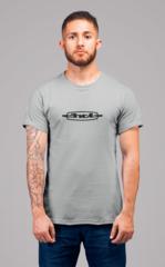 Мужская футболка с принтом ЗИЛ (ZIL) серая 001