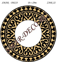 Эскиз для росписи, Зеркало диаметр 29см, SMAR-zmk-22
