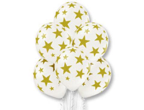 Воздушные шары белые Звезды