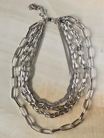 Колье Кхалиси, серебряный цвет