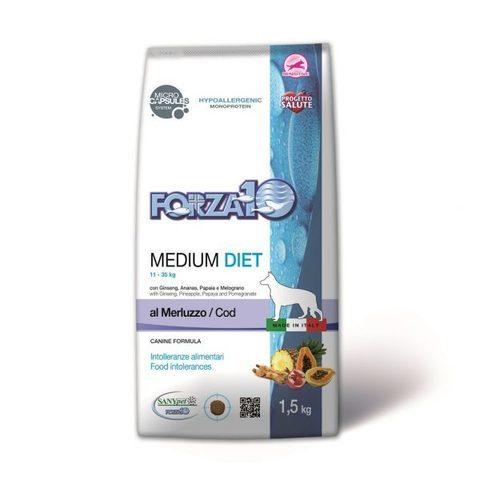 купить фоца10 FORZA10 LineDIET DOG Adult Medium Diet Merluzzo сухой корм для собак средних пород с треской