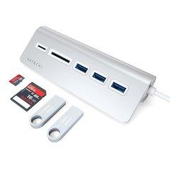 USB-хаб  Satechi USB-C USB Hub & Micro/SD Card Reader серебряный