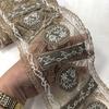 Кружево вышивка на сетке 0616