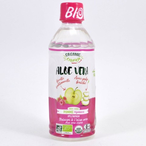 Напиток Алоэ Вера со вкусом яблока и малины пл/б ORGANIC CRUNCH, 350мл