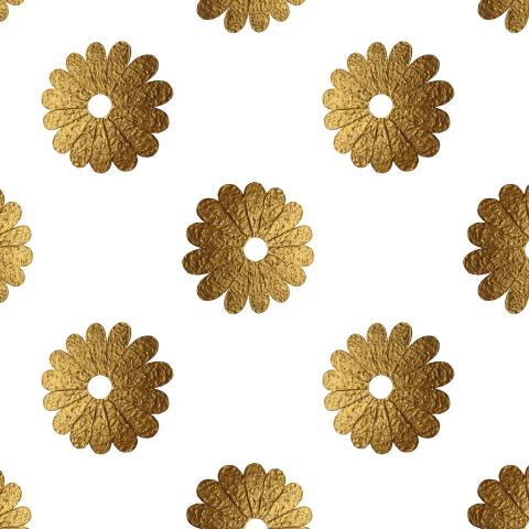 Цветы золотые винтаж