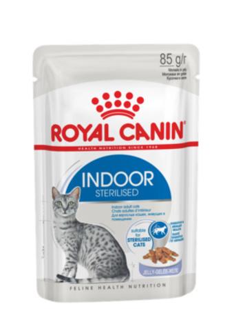 Royal Canin Indoor Sterilised Jelly кусочки в желе для домашних кошек 1-7лет (85 г)
